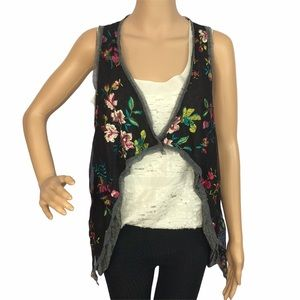 NWT Lola Italian floral vest coverup one size